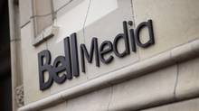 The logo for Bell Media, owned by BCE Inc., is displayed on a Toronto building in a handout photo. (Darren Goldstein/THE CANADIAN PRESS)