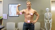 'Anthony' is one of several hunky guys showing women how to check their breasts for signs of cancer in a new video now making the rounds.