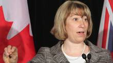 Ontario Education Minister Laurel Broten addresses a news conference in Toronto, Monday, April 9, 2012. (Colin Perkel/Colin Perkel / CP)