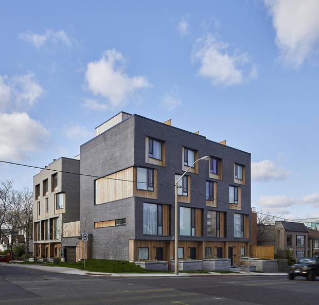 538 Eglinton East, near Bayview, built a year ago by Mazenga Building Group with a design team led by Jodi and Andrew Batay-Csorba of Batay-Csorba Architects, assisted by Turner Fleischer Architects