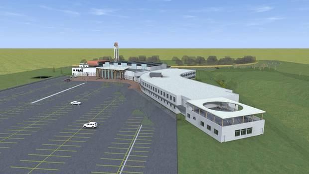 A rendering of the new mosque, school and recreation centre Fort McMurray's Muslim community has been working to build.