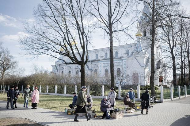 The Saints Boris and Gleb Russian Orthodox Cathedral in Daugavpils.