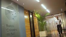 Brazil's central bank seized mid-sized lender Banco Cruzeiro do Sul in September. Banco BVA SA was seized on Friday, the latest sign of strain in the sector. (RICARDO MORAES/REUTERS)