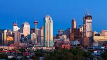 The skyline of downtown Calgary. (Chris Bolin Photography Inc. For The Globe and Mail)