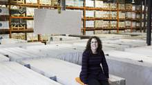 Seneca supply-chain grad Michele Custoreri, now an inventory specialist at quartz countertop importer Caesarstone Canada in Toronto, went back to school after age 40. (Matthew Sherwood for The Globe and Mail)