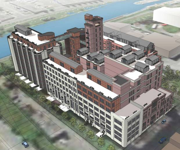 Concept rendering, Canada Malting redevelopment, Montreal.