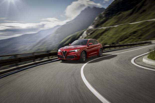 The car is named after the twisting Stelvio Pass in the Italian Alps.