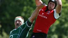 In addition to playing for Canada and London Scottish, rugby player Tyler Hotson is studying for his MBA by correspondence from the Edinburgh Business School. (DARRYL DYCK/THE CANADIAN PRESS)
