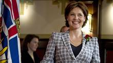 Christy Clark makes her way to a news conference at Government House in Victoria after she was sworn in as B.C. Premier on March 14, 2011. (JOHN LEHMANN/JOHN LEHMANN/THE GLOBE AND MAIL)