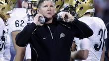 Dan Hawkins was fired as the Colorado Buffaloes' head coach after compiling a 19-39 record in four-plus seasons. (Sue Ogrocki/The Associated Press)