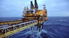 A section of the BP Eastern Trough Area Project (ETAP) oil platform is seen in the North Sea, around 100 miles east of Aberdeen in Scotland February 24, 2014. (POOL/REUTERS)