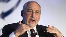 Joseph Stiglitz addresses an audience in Toronto on Tuesday. (Tim Fraser/Tim Fraser)