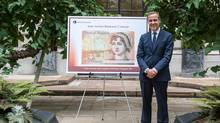 Bank of England Governor Mark Carney announced Wednesday that Jane Austen will appear on the £10 note. (Bank of England/Handout)