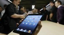 The iPad Mini is shown in San Jose, Calif., Tuesday, Oct. 23, 2012. (Marcio Jose Sanchez/AP)