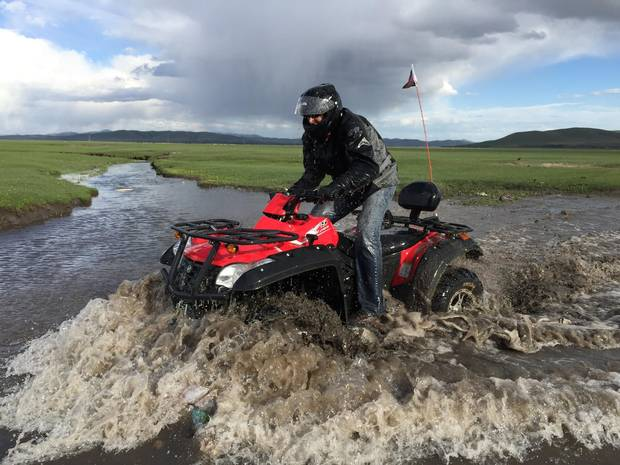 At the grasslands in Hebei province, a $35 rental provides an hour of no-limits ripping through rivers and farmland.