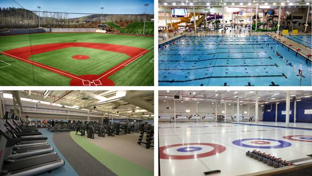 The sports facilities on Fort McMurray's McDonald Island.