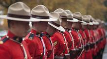 November 7, 2011 - Richmond, BC - Richmond RCMP parade in front of the newly unveiled $36 million Richmond Community Safety Building, which houses the headquarters of the Richmond RCMP. (Brett Beadle For The Globe and Mail/Brett Beadle For The Globe and Mail)