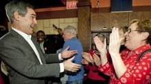 Liberal Leader Michael Ignatieff arrives to a meet-and-greet at a family restaurant in Ottawa on Jan. 12, 2011. (Sean Kilpatrick/The Canadian Press/Sean Kilpatrick/The Canadian Press)