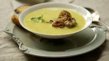 Cauliflower lentil soup with cauliflower fritters (Peter Power/The Globe and Mail)