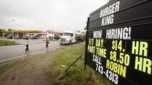 At the height of the boom in Alberta, wages rose across all industries. A Burger King in Fort McMurray offered $14 an hour in 2006. (TODD KOROL/REUTERS)