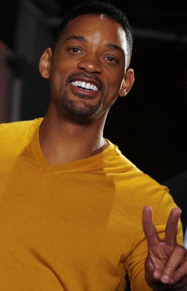 Why is Will Smith still one of the biggest movie stars on the planet? Some credit his mastery of two facial expressions: boyish and goofy. Shown here at the premiere of 'Focus' in Buenos Aires, we have boyish Will (MARCOS BRINDICCI/REUTERS)