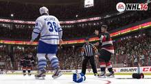 A image from EA Sports' NHL 14 is shown. At a time when some are shying away from fighting in hockey, EA Sports is embracing the rough stuff. (HO/THE CANADIAN PRESS)