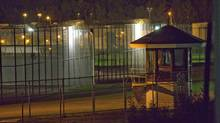 The prison yard of the Orsainville Detention Centre near Quebec City is shown on Saturday June 7, 2014. (FRANCIS VACHON/THE CANADIAN PRESS)