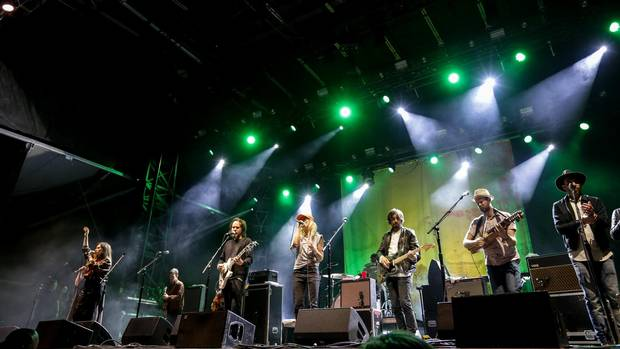 Broken Social Scene performing last month.