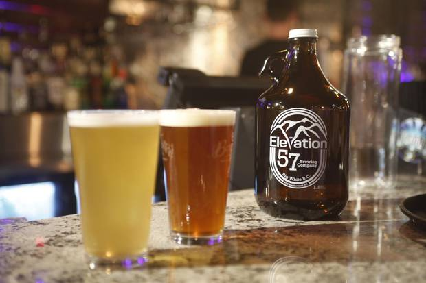 Mountain resorts are embracing craft beer by partnering with nearby brewers. Elevation 57 at Big White, B.C.