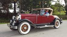 1929 Hupmobile owned by old-car enthusiast Hughie Montgomery (Jon Bowman)