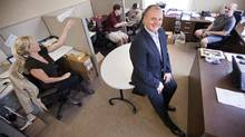 Dennis Pitselis, founder and president of Zone Marketing Group, seen in his company office. (Tim Fraser/TIM FRASER FOR THE GLOBE AND MAIL)