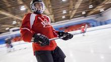 Mark DeMontis's long-term goal is to get blind hockey in the Paralympic Games. (Tim Fraser/The Globe and Mail)
