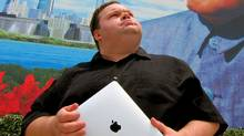 "A promotional photo of Mike Daisey for his play ""The Agony and the Ecstasy of Steve Jobs"" (Ursa Waz/Push Festival)"