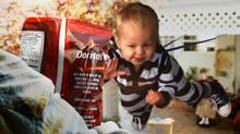 "Doritos held its sixth annual ""Crash the Super Bowl"" contest, asking customers to make their own ads, and staging an online vote. The winning add featuring a baby in a slingshot was shown during the game."