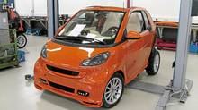 2011 Smart Brabus under construction (Dan Proudfoot for The Globe and Mail)