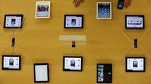 Apple's iPad devices are displayed at its store in Tokyo Jan. 18, 2013. (KIM KYUNG-HOON/REUTERS)