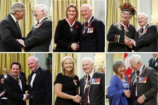 Mr. Johnston has awarded tens of thousands of honours, medals and special commemorations during his tenure, inducting people into the Order of Canada and issuing Governor-General's Performing Arts Awards.