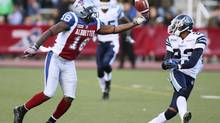After four consecutive seasons of 85-plus catches and 1,055-plus yards, Montreal Alouettes receiver Jamel Richardson has had a slow 2012: grabbing 45 passes for 679 yards and four touchdowns. (CHRISTINNE MUSCHI/REUTERS)