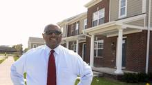 Executive Director Eugene Jones standing in front of a new units at the new Cornerstone Estates. Detroit, Mi. September, 27, 2011. (Clarence Tabb, Jr./The Detroit News/Clarence Tabb, Jr./The Detroit News)