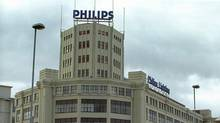 This undated file picture shows Dutch electronics giant Philips building in Eindhoven. (KOEN SUYK/AFP)