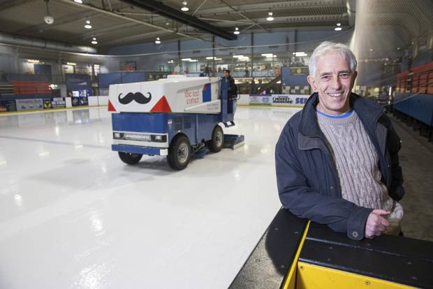 Cambridge University professor Bill Harris, who is also a hockey player for the varsity Cambridge Eskimos, is seen before his game against Oxford, March 3, 2018.