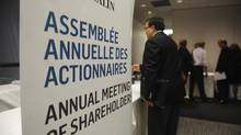 SNC Lavalin's AGM in Toronto on May 3 2012. (Fred Lum/Fred Lum/The Globe and Mail)