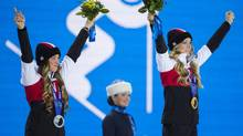Canada's Olympic sponsors are making it easy for staff to cheer on athletes such as medal-winning sisters Justine Dufour-Lapointe and Chloé Dufour-Lapointe. (JOHN LEHMANN/THE GLOBE AND MAIL)
