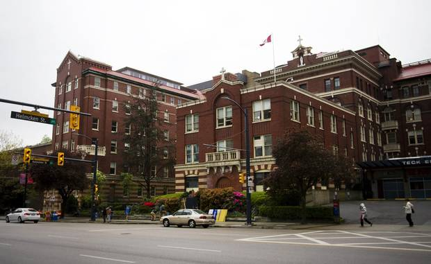 St. Paul's Hospital is pictured in Vancouver.