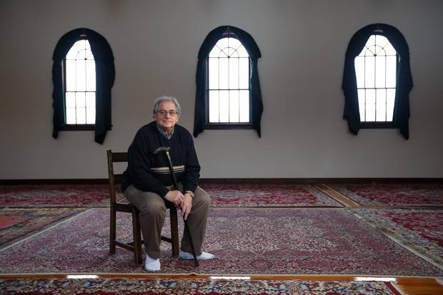 Richard Awid, 78, until recently gave interpretive tours of the country's first mosque at Fort Edmonton Park.