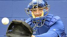 Former Toronto Blue Jays catcher Jeff Mathis now with Miami (MIKE CASSESE/REUTERS)