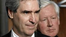 Liberal Leader Michael Ignatieff and MP Bob Rae take questions from journalists in Ottawa on Wednesday. (Chris Wattie/Reuters/Chris Wattie/Reuters)