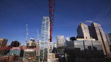 Building construction is seen in downtown Calgary, Alberta on November 27, 2012. (Todd Korol for The Globe and Mail)