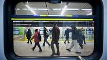 Vancouver's Canada Line December 16, 2009. (John Lehmann/ The Globe and Mail/John Lehmann/ The Globe and Mail)