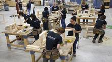 Women-only classes are cropping up in skilled trades courses around the country. Here, the enhanced general carpentry program at the Centre for Skills Development & Training in Burlington, Ont. (Queen's Printer for Ontario)